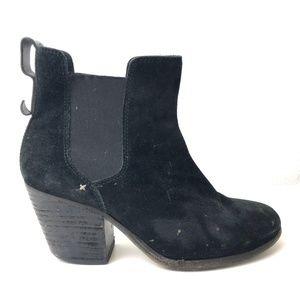 Rag & Bone Black Boots Walker Suede Western